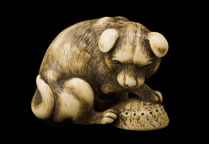 Netsuke of a dog <b>(SOLD)</b>